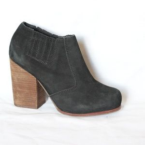 Jeffrey Campbell Black Suede Platform Booties 8.5